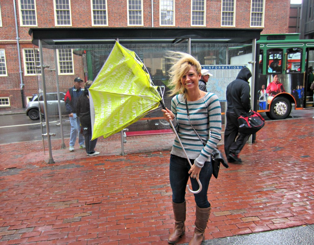 Rainy Windy Boston