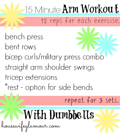 15 Minute Arm Workout With