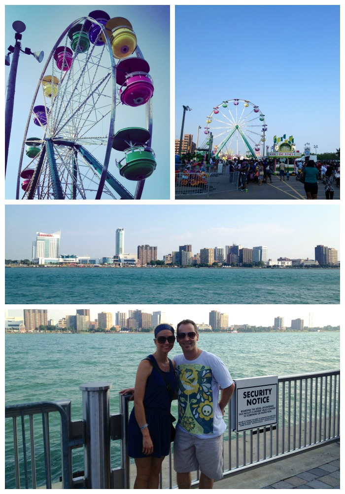 Detroit River Days collage