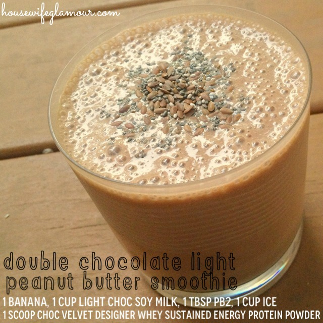 Double Chocolate Light Peanut Butter Smoothie with Designer Whey hwglamour