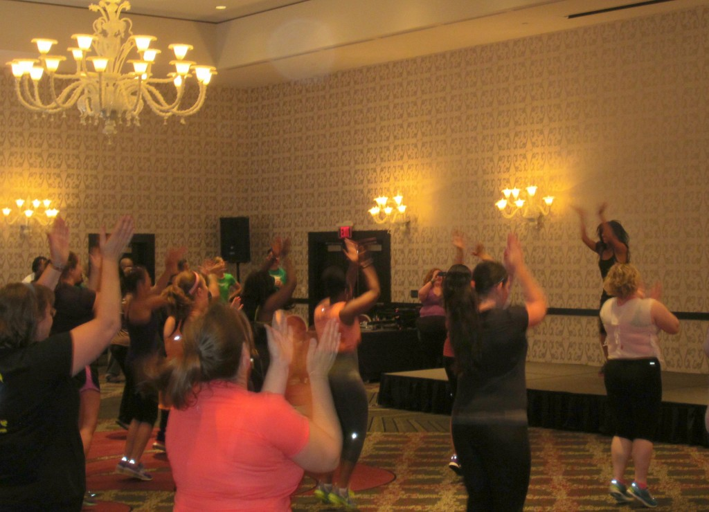 Gina teaching Zumba at FitB
