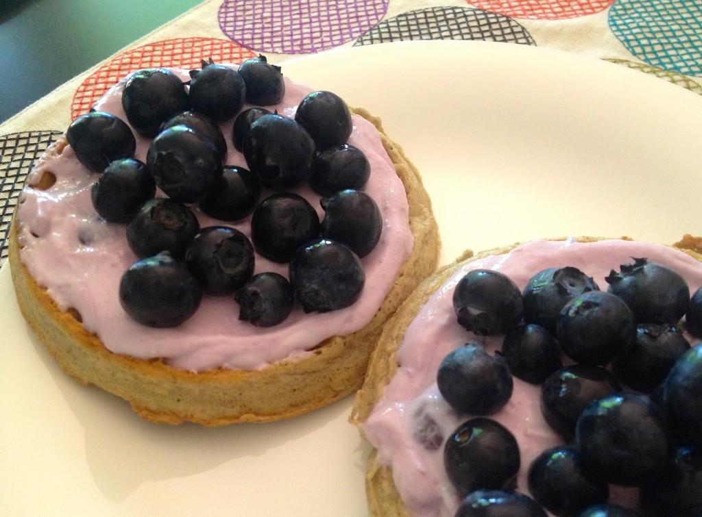 Kashi Blueberry Waffles with
