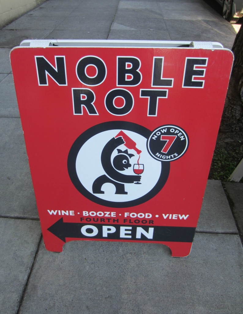 Noble Rot Sign Portland