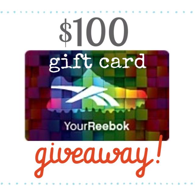 Reebok Gift Card Giveaway