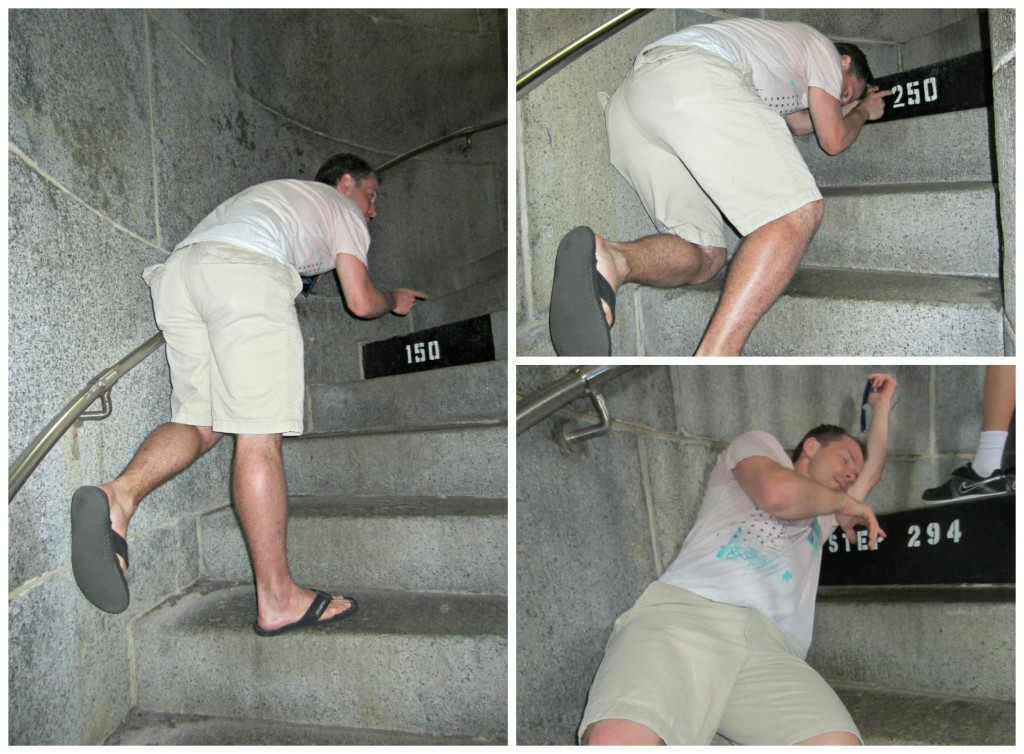 Scott climbing Bunker Hill steps
