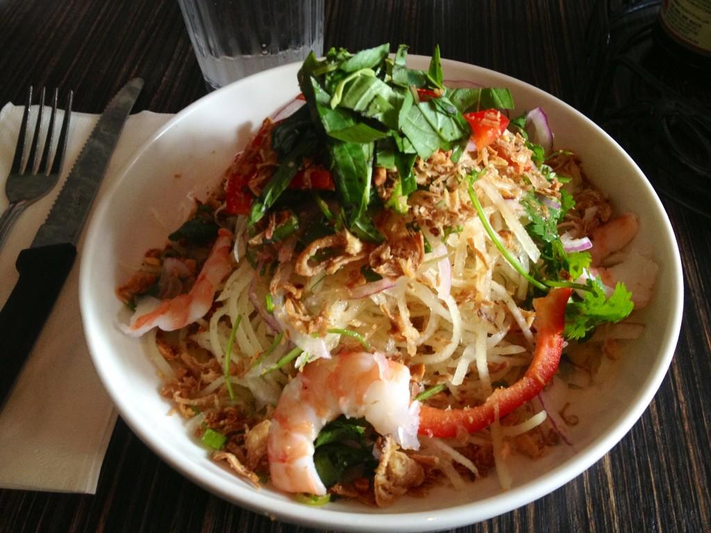 shrimp salad LucLac Vietnam