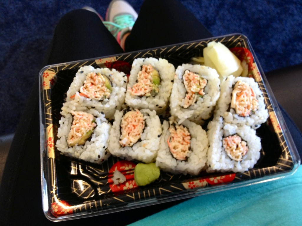 sushi in airport