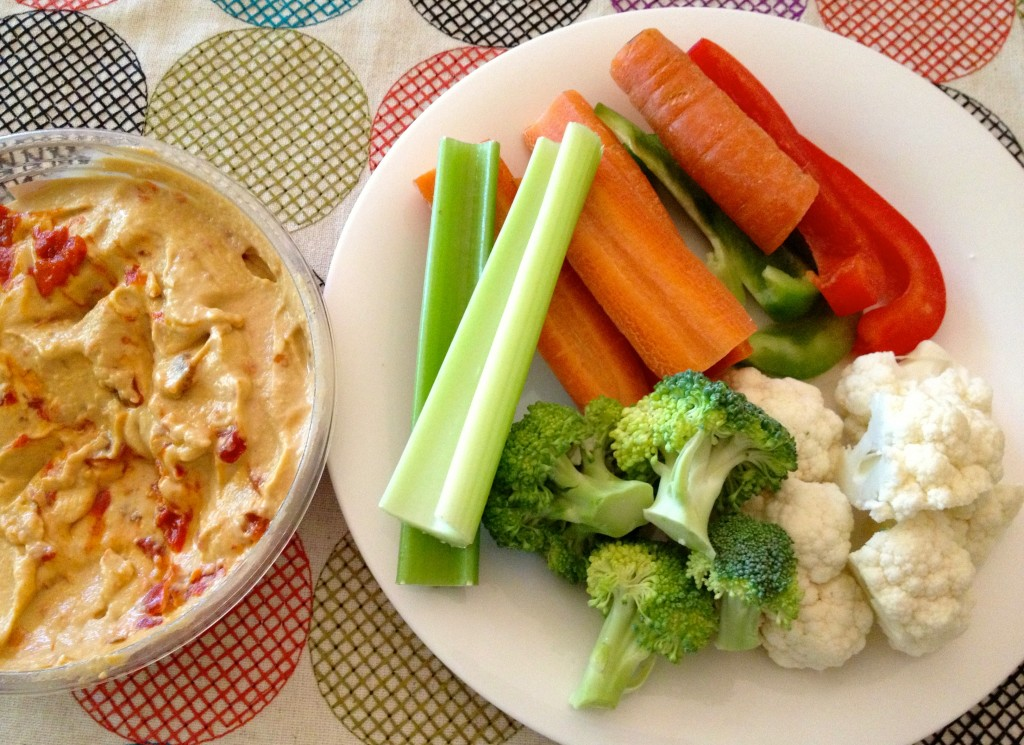vegetables and hummus - hea