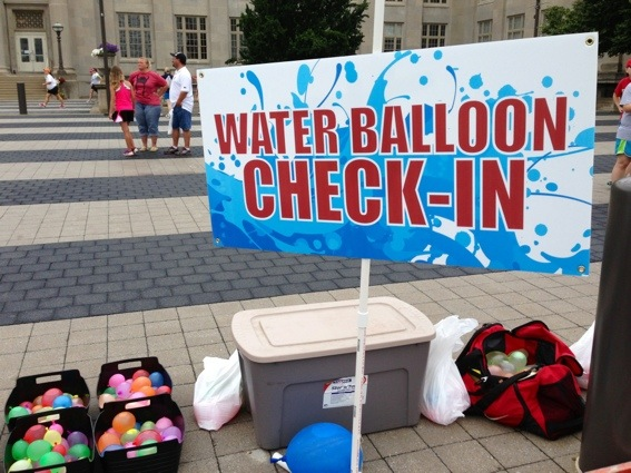 Drenched 5K Water Balloon Check-in