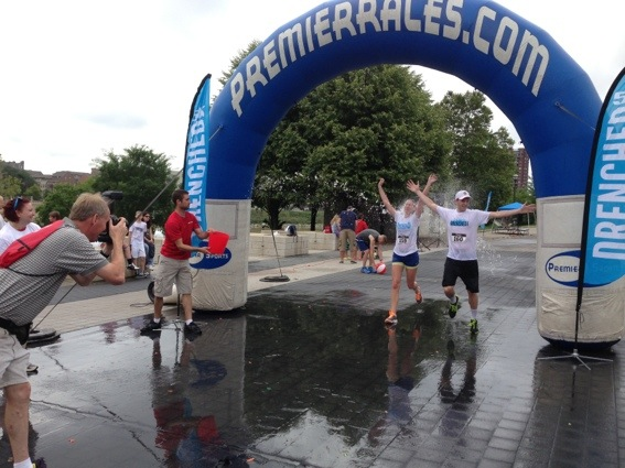 getting drenched - a fun summer water race