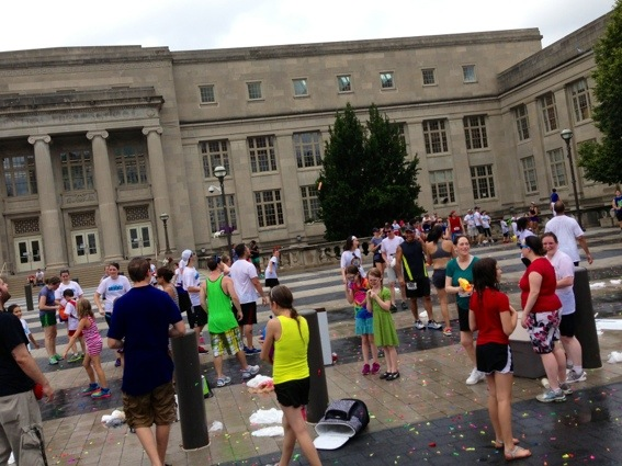 Post race water balloon fight - Drenched 5K