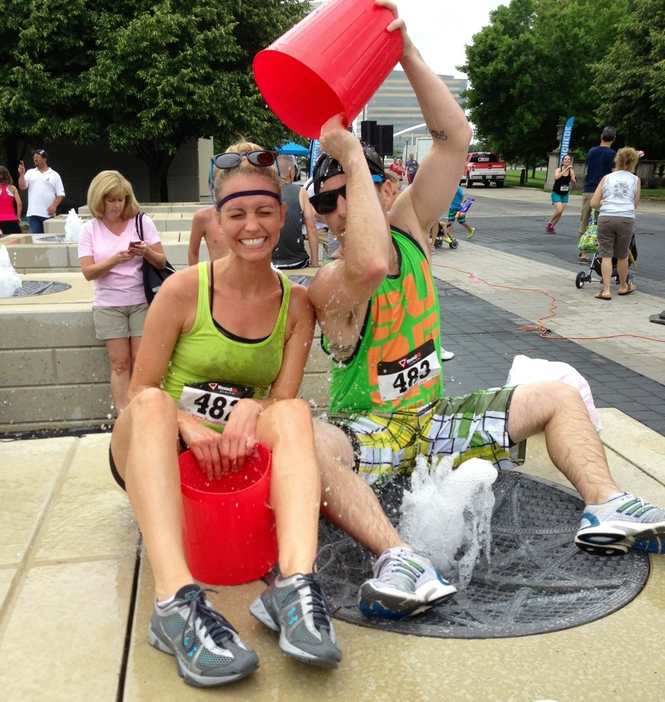 getting drenched - Drenched 5K summer race