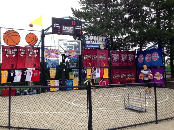 shooting hoops at cedar point