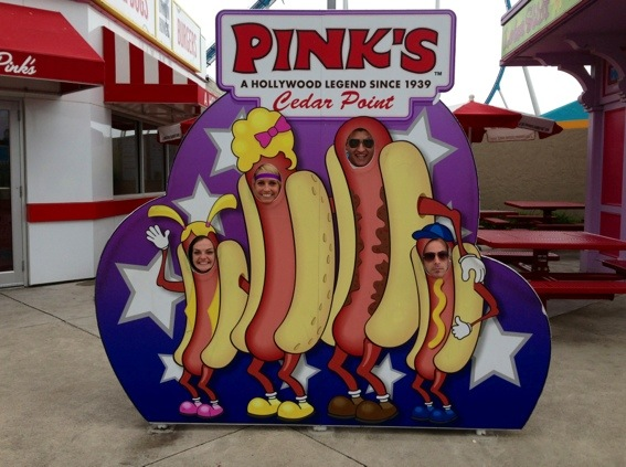 fun at cedar point with hot dogs