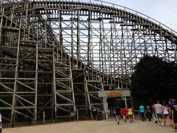 cedar point wooden roller coaster