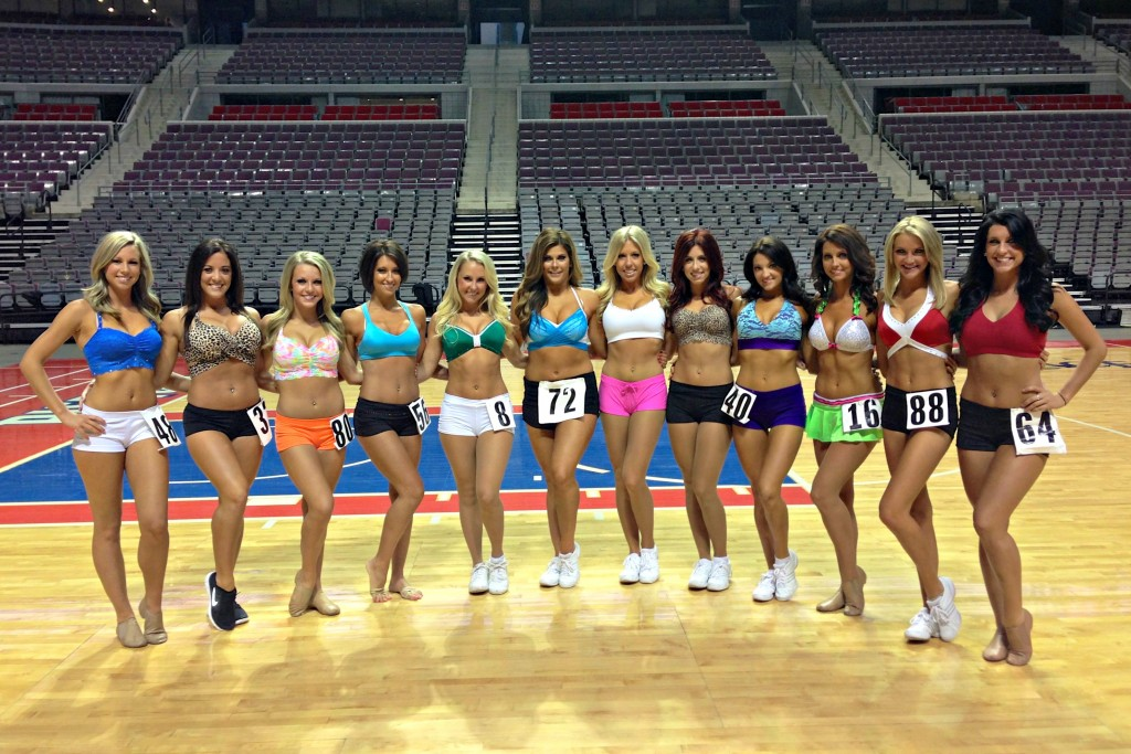 Detroit Pistons Vets at auditions 2013