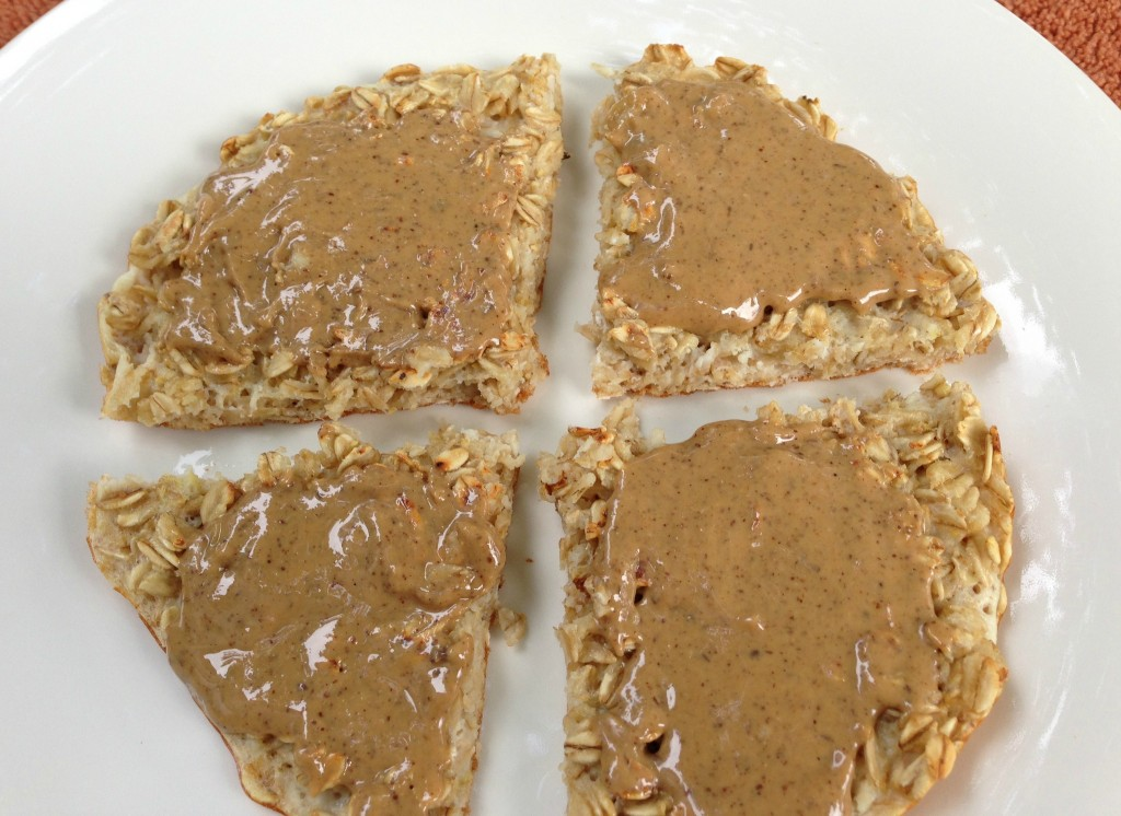 EatNuttZo nut butter on protein pancakes