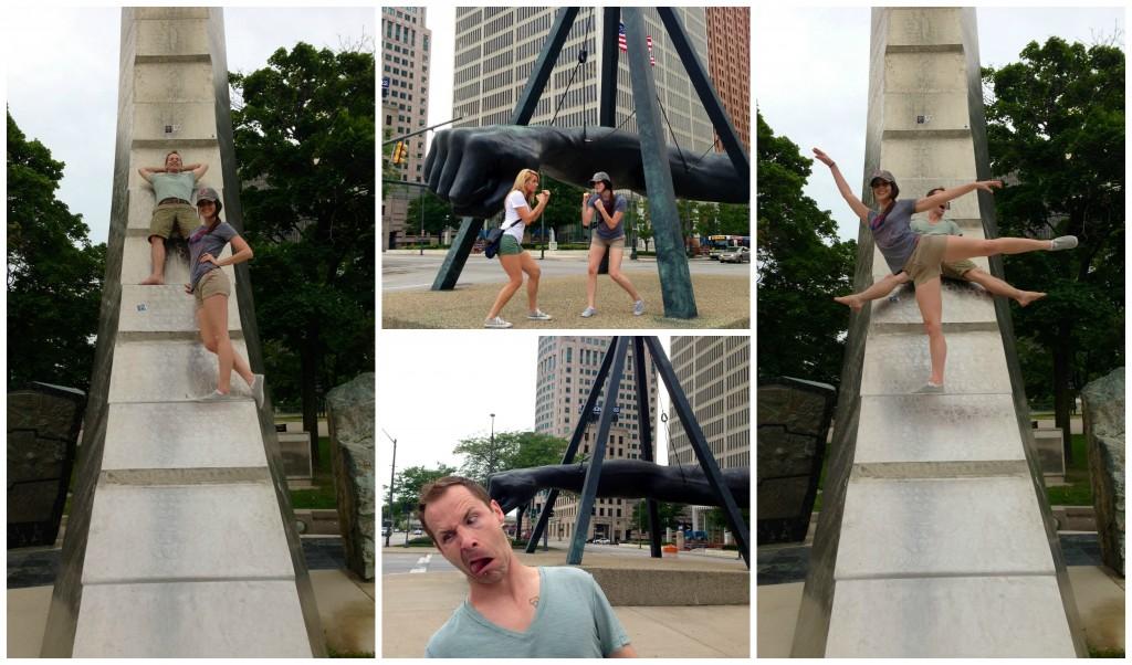 Having fun in Detroit