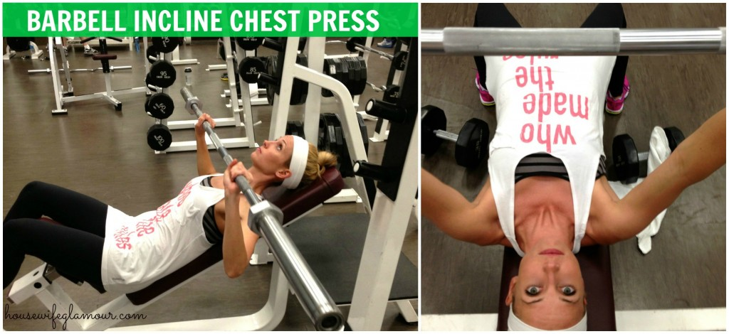 Incline chest press demo