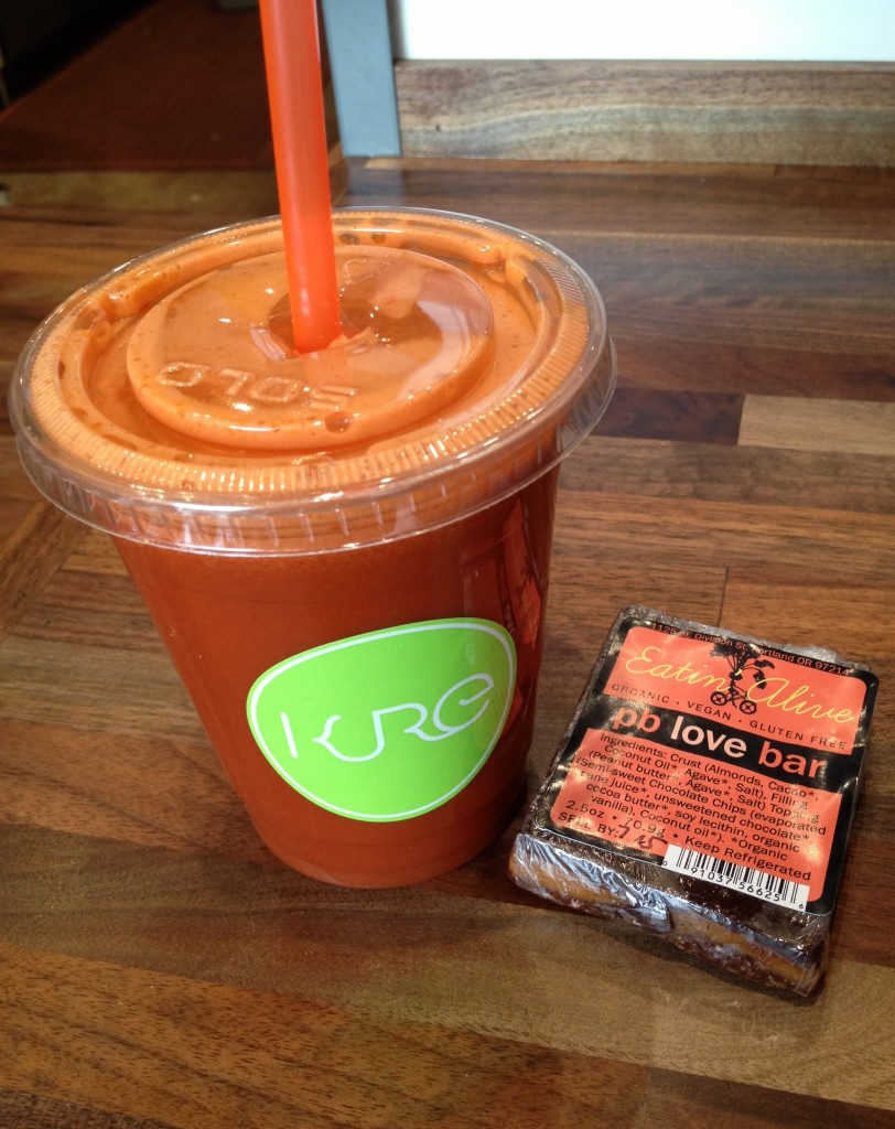 Kure Juice Bar juice and pean