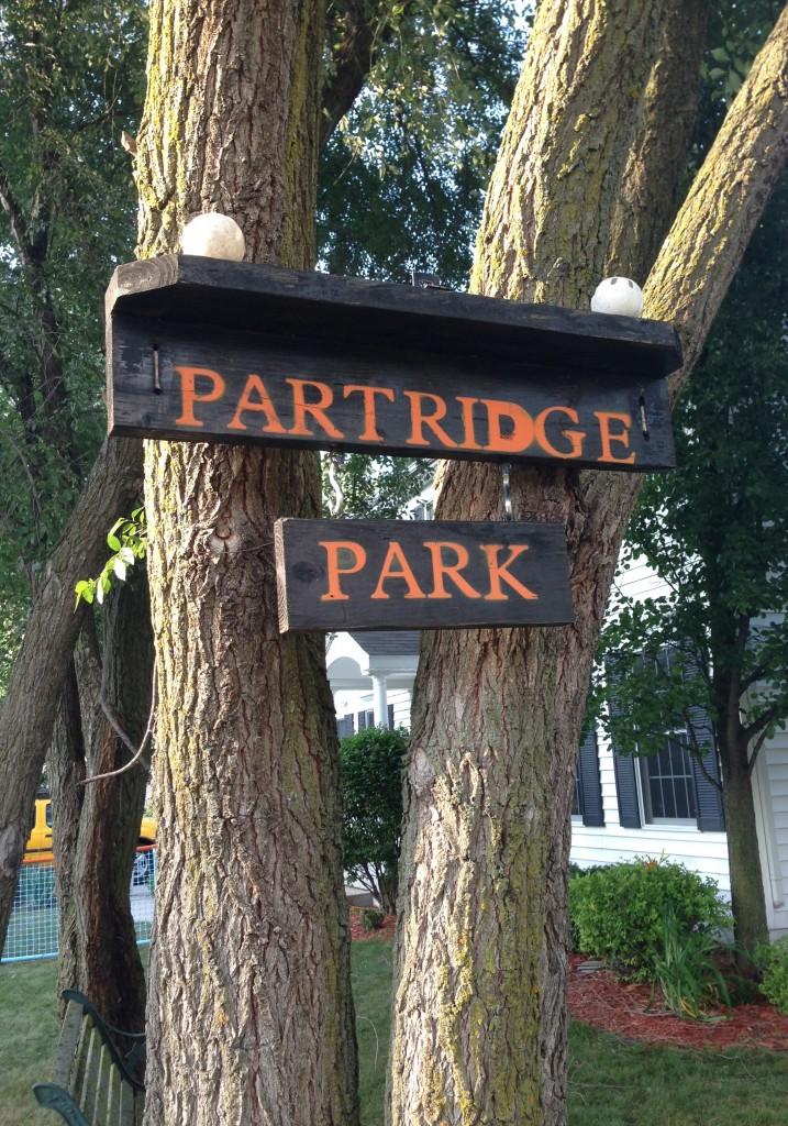 Partridge Park sign