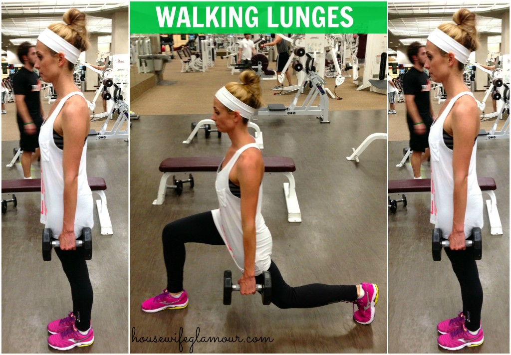 Walking Lunges demo