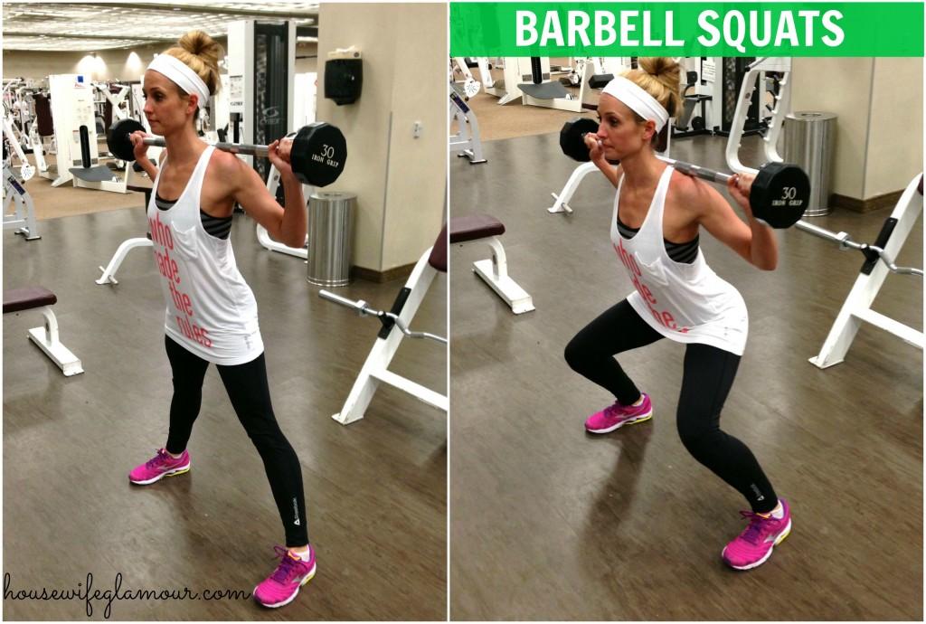 barbell squats demo