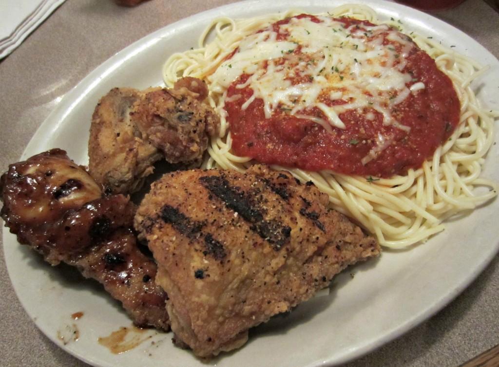 AQ Chicken House chicken and spaghetti