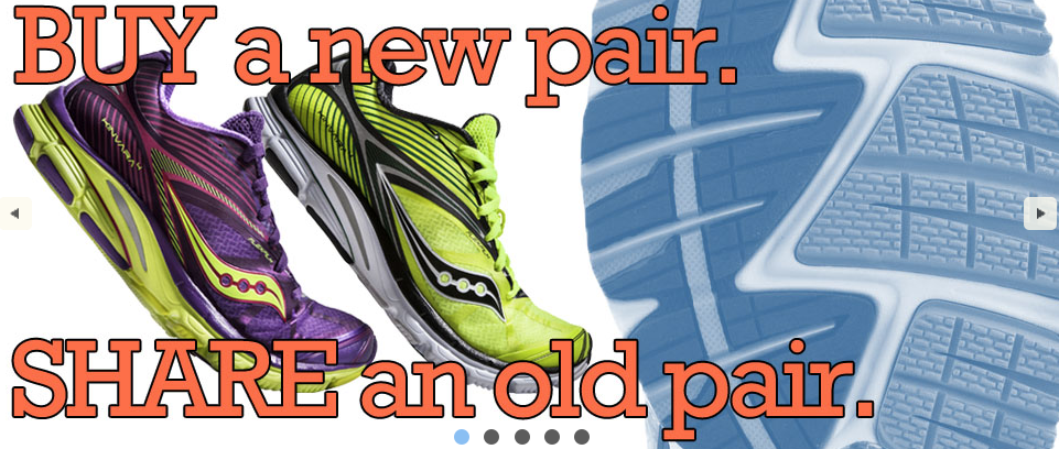 Kind Runner Buy a New Pair Share an Old Pair