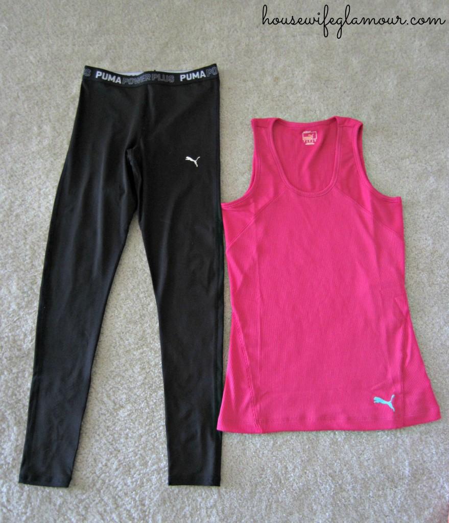 PUMA fitness compression gear