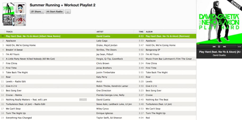 Summer Workout Playlist on Spotify