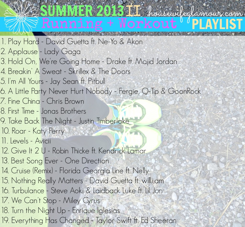 Summer 2013 Running + Workout Playlist 2