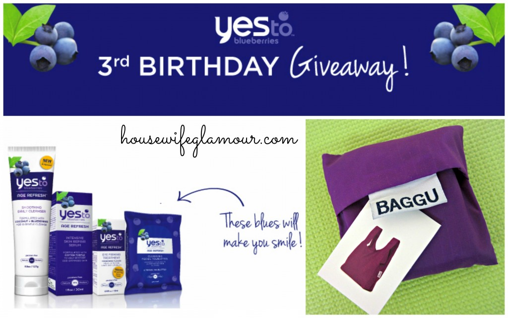 Yes To Bluberries 3rd Birthday Giveaway