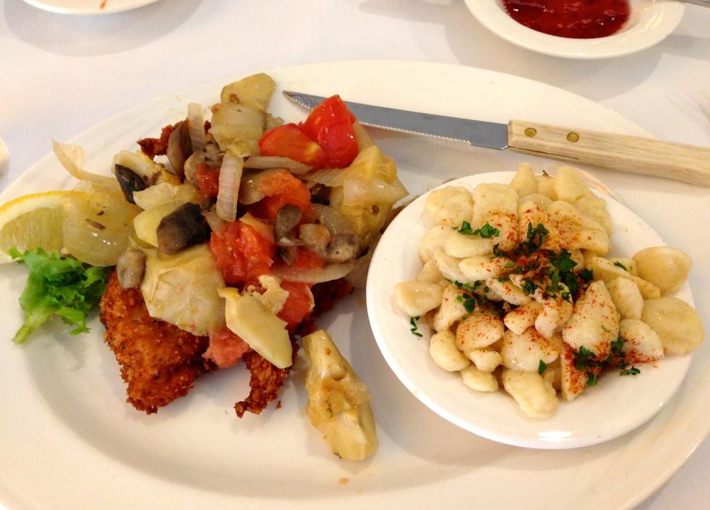 chicken schnitzel dinner Zenders