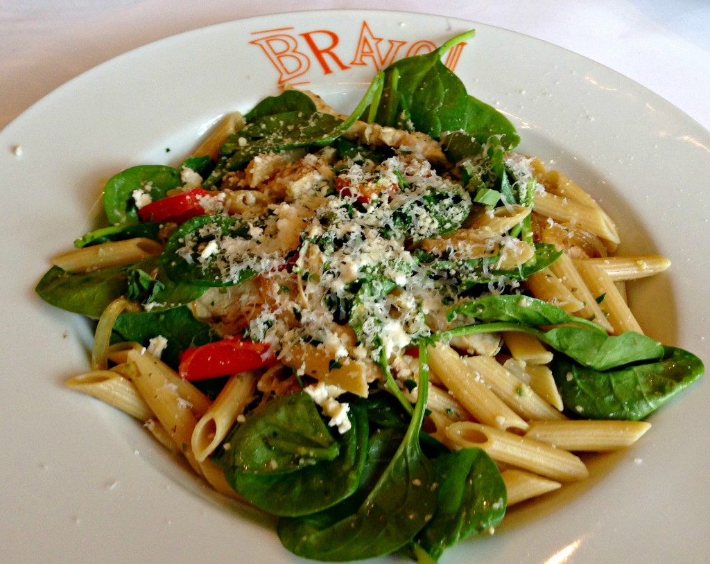 Bravo chicken and vegetable pasta