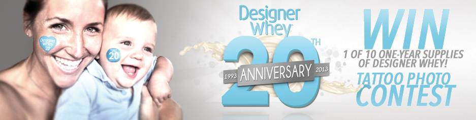 Designer Whey 20th Anniversary Tattoo Contest