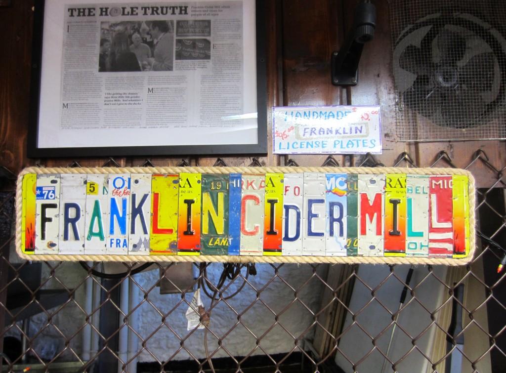 Franklin Cider Mill licenses