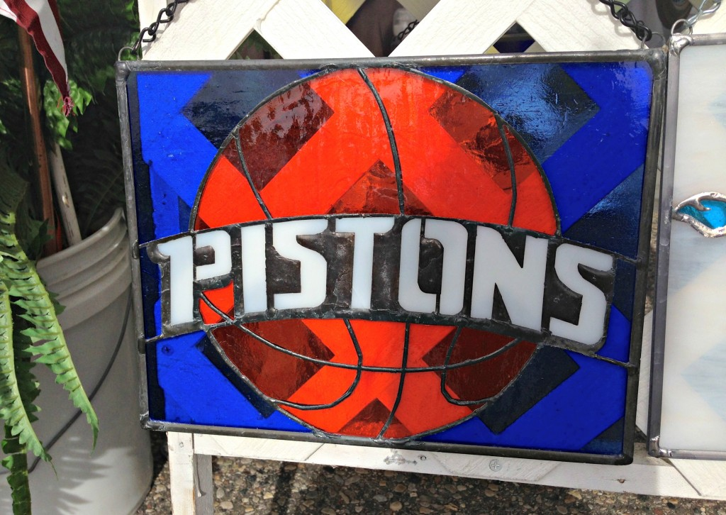 Pistons stained glass