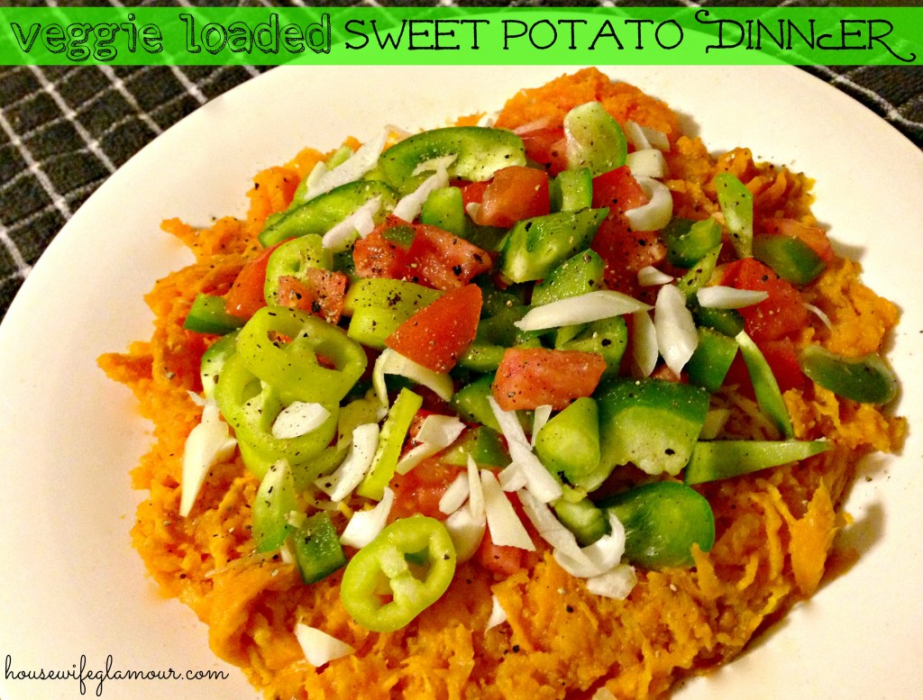Veggie Loaded Sweet Potato Dinner