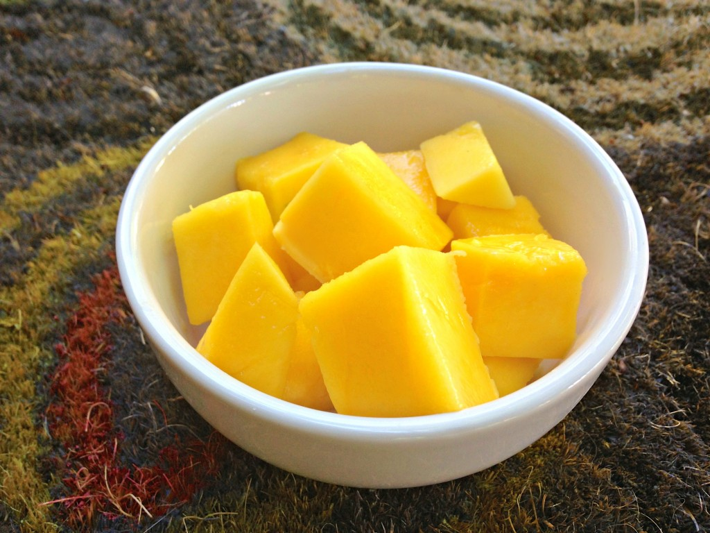 fresh cut mango