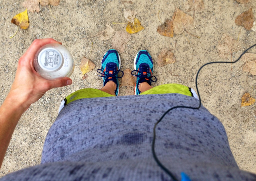 running with vitamin water