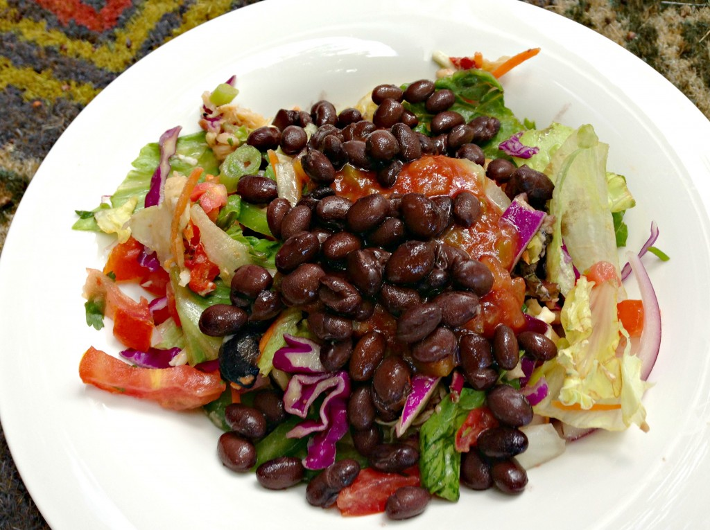 taco salad with beans