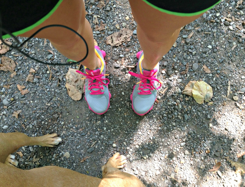 trail running with roadie