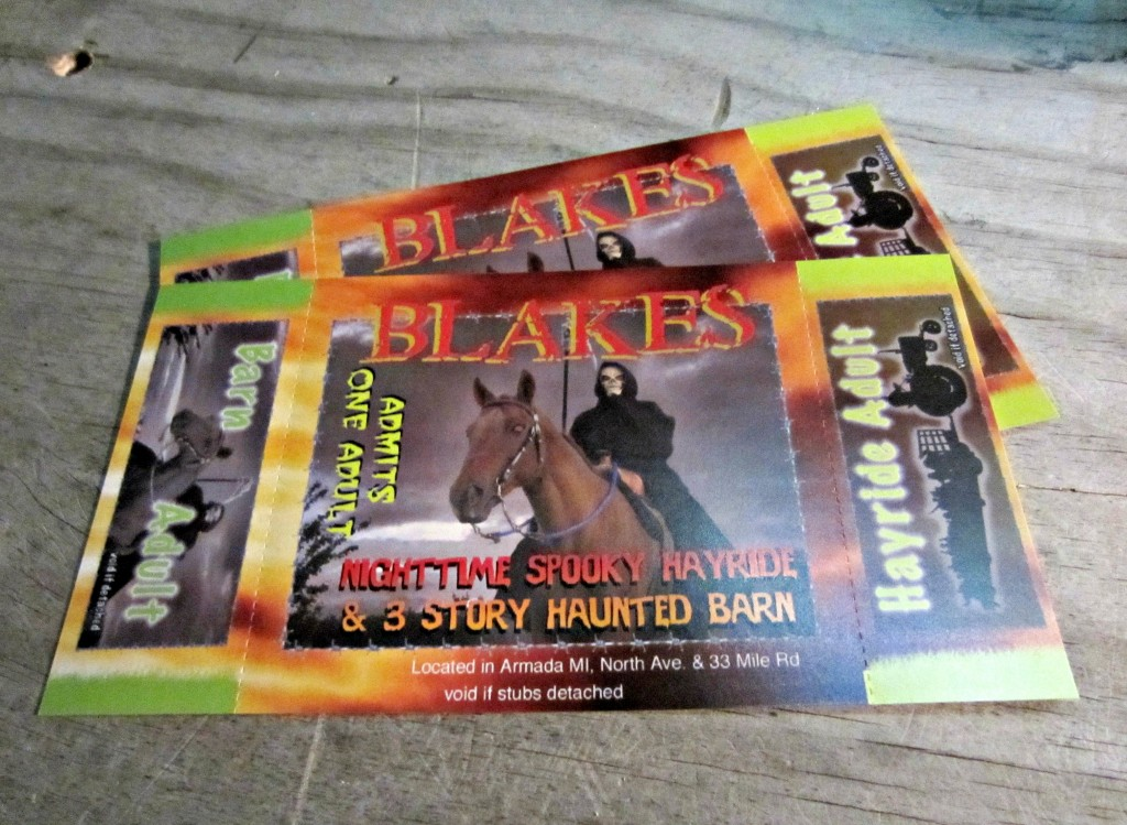 Blakes Haunted Tickets