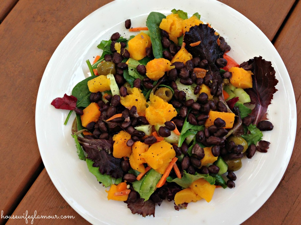 Butternut Squash and black beans healthy salad