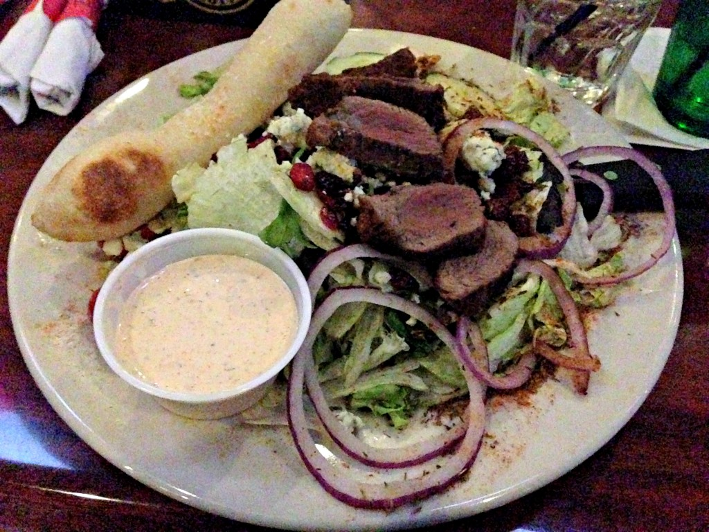 Cajun steak salad dinner
