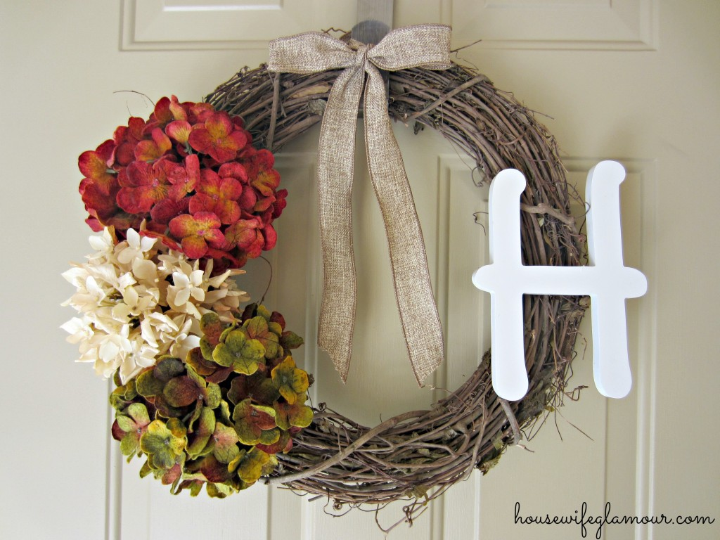 Easy DIY fall wreath for front door