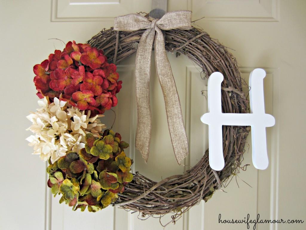 Easy DIY fall wreath for front door