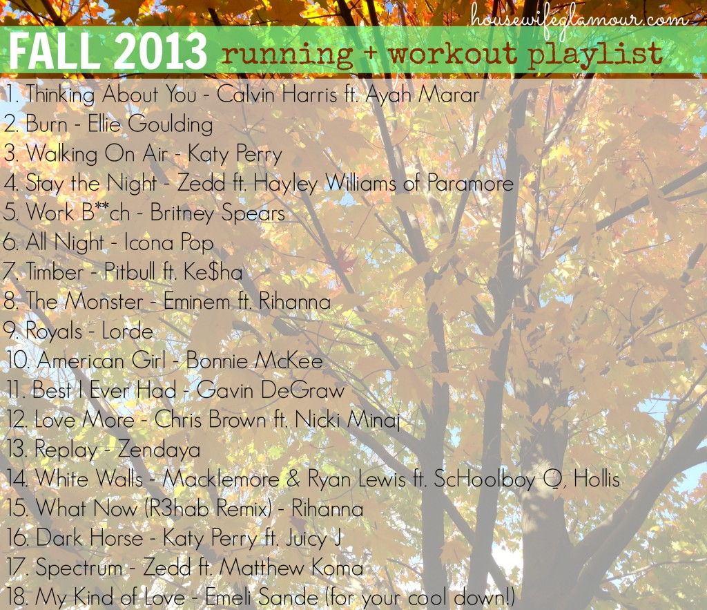 Fall 2013 Running + Workout Playlist