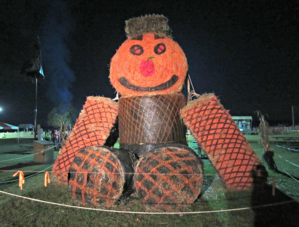 Giant Hay Pumpkin